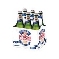 Peroni Nastro Azzurro 6 Pack - Glass 12 oz Bottles, 67.2 Fluid ounce