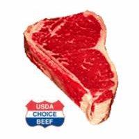 USDA Choice Beef USDA Choice Beef Bone-In, New York Strip Steak, 2 Pound
