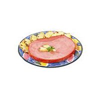 Each package has 1 bone-in ham steak, 3/4 inch thick, average weight is 1.75 to 2.25/lbs.