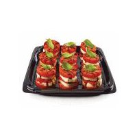 Layers of tomato, fresh mozzarella and basil leaves,. Serves 6. Please note: Product images may differ than actual product. Please contact your store for any specific item questions