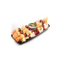 Skewers of pineapple, cantaloupe and strawberries, served with Chocolate Dip. Serves 15. Please note: Product images may differ than actual product. Please contact your store for any specific item questions