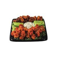 Your choice of barbecue, Buffalo or half portions of each. Served with honey Dijon dipping sauce. Serves 10      Please note: Product images may differ than actual product. Please contact your store for any specific item questions