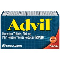 Advil Advil Ibuprofen Pain Relief/fever Reducer Tablets, 50 Each