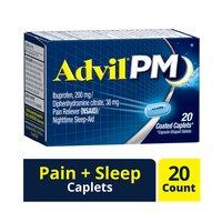Advil Pm Ibuprofen Pain Relief/sleep Aid Caplets, 20 Each