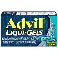 Advil Liqui-Gels Reliever/Fever Reducer Ibuprofen, 80 Each