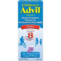 Advil Grape Fever Reducer & Pain Reliever Suspension, 120 Millilitre
