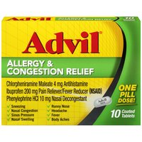 Advil Advil Ibuprofen Allergy & Congestion Relief          , 10 Each