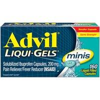 Advil Ibuprofen Pain & Fever Liqui-gels Minis, 160 Each