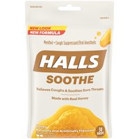 Halls Cough Drops - Honey, 30 Each