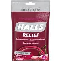 Halls Halls Cough Suppressant Oral Anesthetic - Black Cherry, 25 Each