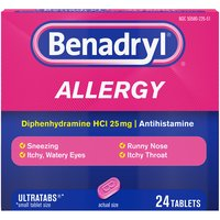 BENADRYL BENADRYL Allergy Ultratabs Tablets, 24 Each