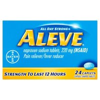 Aleve Naproxen Sodium 220mg Pain Reliever/Fever Reducer, 24 Each