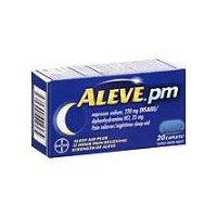 Aleve PM Pain Reliever/Nighttime Sleep-Aid Caplets, 20 Each
