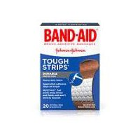 BAND-AID BRAND Adhesive Bandages Tough-Strips, 20 Each
