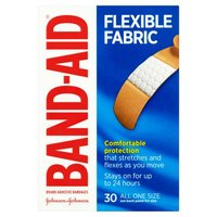BAND-AID BRAND Flexible Fabric Adhesive Bandages, 30 Each