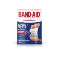 BAND-AID BRAND Sport Strip Extra Wide Adhesive Bandages, 30 Each