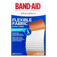 BAND-AID BRAND Flexible Fabric Adhesive Bandages, 10 Each
