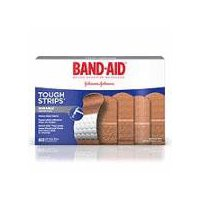 Band-Aid Brand Tough-Strips Adhesive Bandages provide heavy-duty, durable protection for cuts and scrapes.