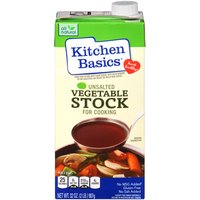 Kitchen Basics Unsalted Vegetable Stock, 32 Ounce