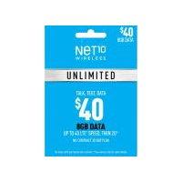 Net10 $40 Phone Card Unlimited 8 GB Data, 1 Each