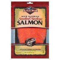 Black Bear Cold Smoked Wild Alaskan Sockeye Salmon, 8 Ounce
