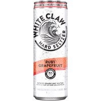 White Claw Spiked Sparkling Water with a Hint of Ruby Grapefr, 12 Fluid ounce