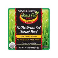 Nature's Reserve 93% Lean, 7% Fat Ground Beef, Grass Fed, 16 Ounce
