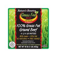 Nature's Reserve Nature's Reserve 85% Map Pack Patties, Grass Fed, Free Range, 16 Ounce