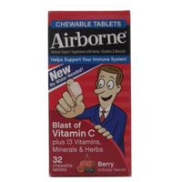Airborne Berry Chewable Tablets Blast of Vitamin C, 32 Each