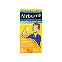 Airborne Airborne Citrus Chewable Table, 1 Each