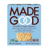 Made Good Vanilla Crispy Squares - 6 Bars, 4.68 Ounce