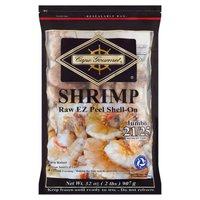Cape Gourmet Shrimp, Jumbo Raw EZ Peel Shell-On, 32 Ounce