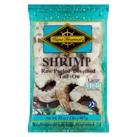 Cape Gourmet Shrimp, Large Raw Peeled Deveined Tail-On, 32 Ounce