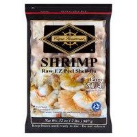 Cape Gourmet Shrimp, Large Raw EZ Peel Shell-On, 32 Ounce