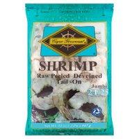 Cape Gourmet Cape Gourmet Shrimp, Jumbo Raw Peeled Deveined Tail -On, 32 Ounce