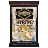 Cape Gourmet Shrimp, Colossal Raw EZ Peel Shell-On, 32 Ounce