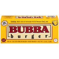 Bubba Burger Beef Chuck Burgers with Sweet Onions - 6 count, 2 Pound