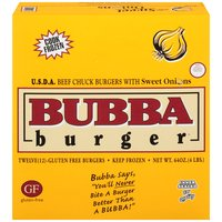 Bubba Burger Beef Burger - Sweet Onion, 4 Pound