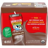 Horizon Organic Chocolate Lowfat Milk - 6 Pack, 48 Fluid ounce