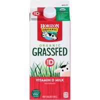 Horizon Organic Grassfed Whole Milk, 0.5 Gallon