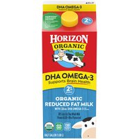 Horizon Organic 2% Reduced Fat DHA Omega-3 Organic Milk, 63.91 Fluid ounce