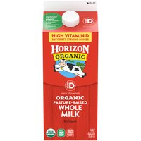 Horizon Organic Vitamin D Whole Organic Milk, 64 Fluid ounce
