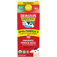 Horizon Organic Vitamin D DHA Omega-3 Organic Whole Milk, 0.5 Gallon