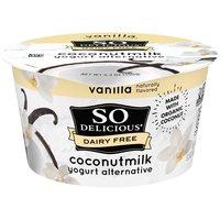 So Delicious Dairy Free Coconut Milk Vanilla Yogurt Alternative, 5.3 Ounce