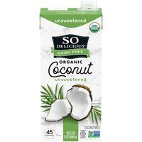 So Delicious Dairy Free Unsweetened Coconut Milk Beverage, 32 Fluid ounce