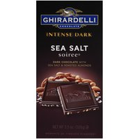 Ghirardelli Chocolate Intense Dark Sea Salt Soiree Bar w/Roasted Almonds, 3.5 Ounce