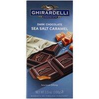 Ghirardelli Chocolate Prestige Bar Dark Chocolate Sea Salt Caramel, 3.5 Ounce