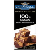 Ghirardelli Chocolate 100% Cacao Unsweetened Chocolate, 4 Ounce