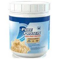 Pure Protein 100% Whey Protein Powder, Vanilla Creme, 16 Ounce