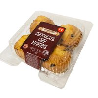 Concord Bakery Chocolate Chip Muffins, 4 ct, 6 Ounce